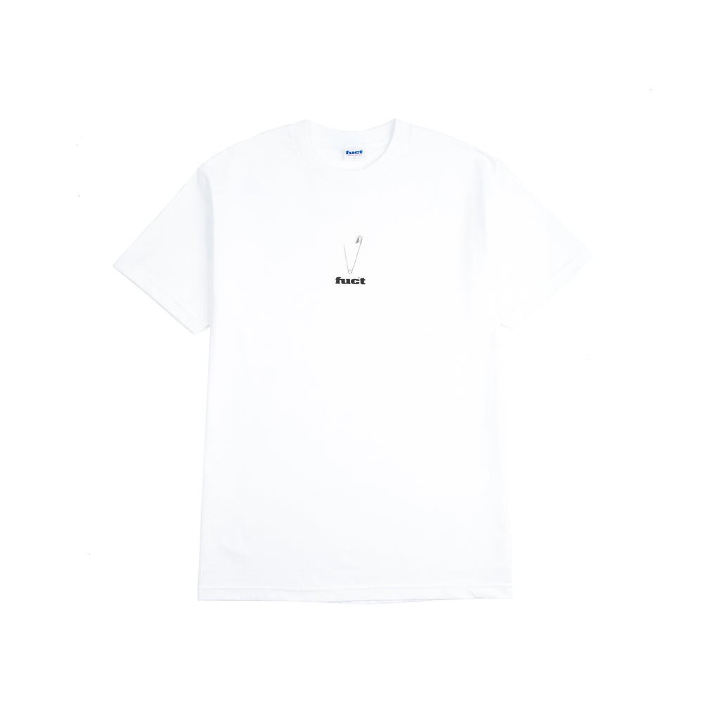 "SAFTEY PIN T-SHIRT ""WHITE"""
