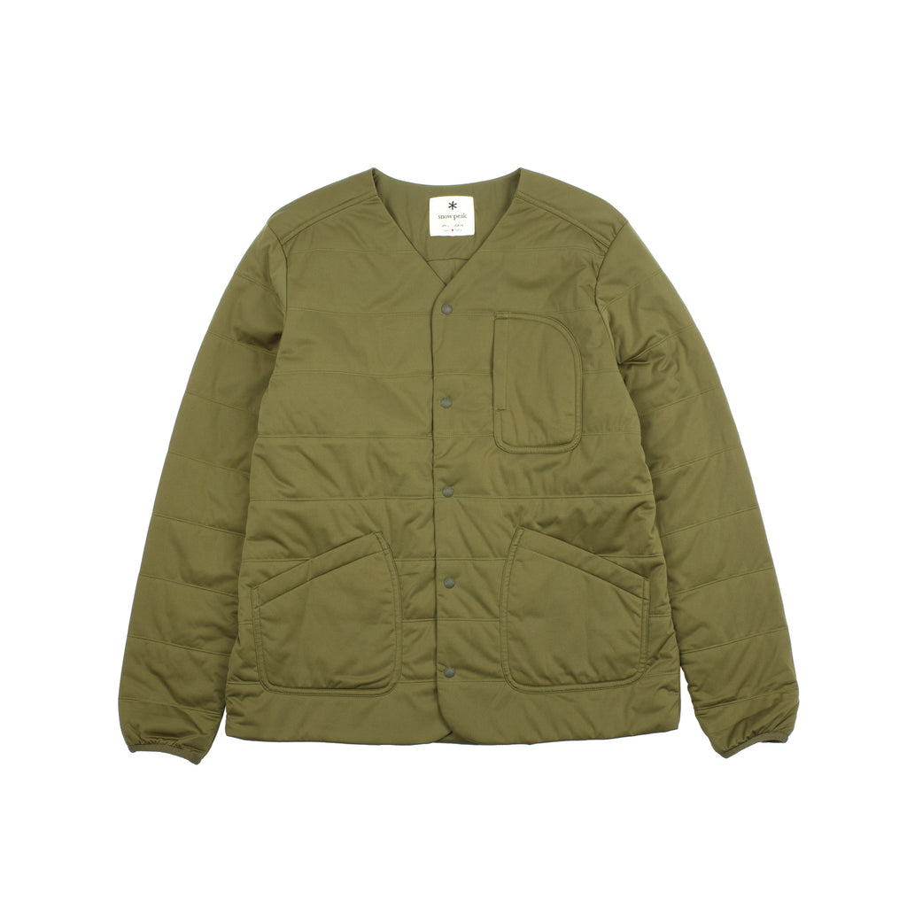 "FLEXIBLE INSULATED CARDIGAN ""OLIVE GREEN"""
