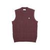 "WOOL KNIT VEST ""BROWN"""