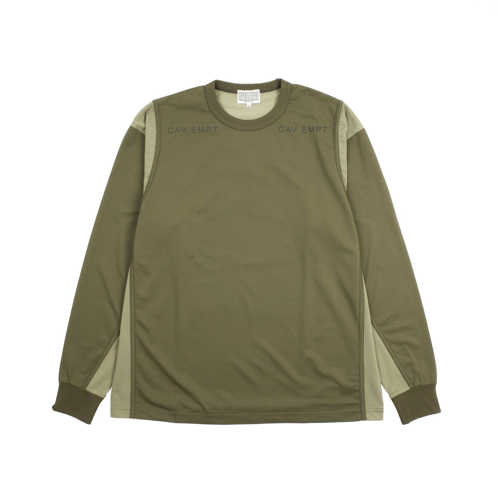 "MESH LONG SLEEVE TEE ""GREEN"""