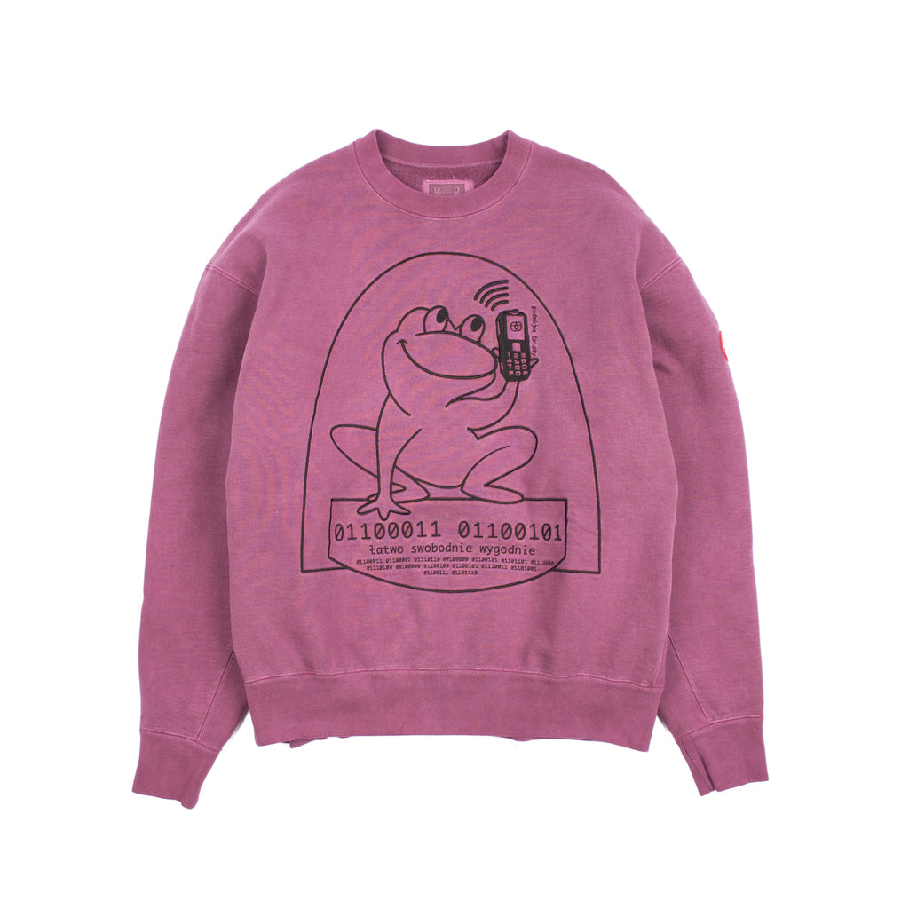 OVERDYE EASILY COMFORTABLE CREWNECK PURPLE