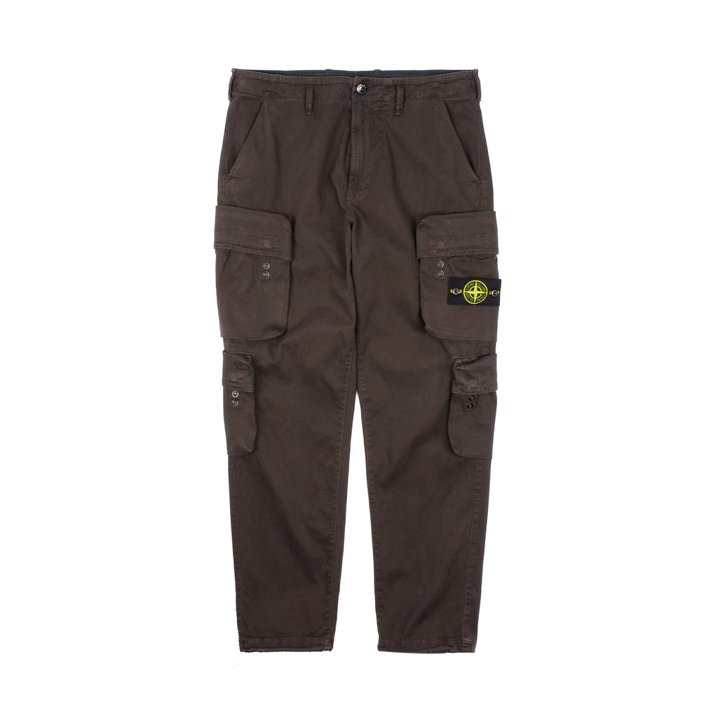 GARMENT DYED CARGO PANTS IN STRETCH TEXTURE BRUSHED COTTON