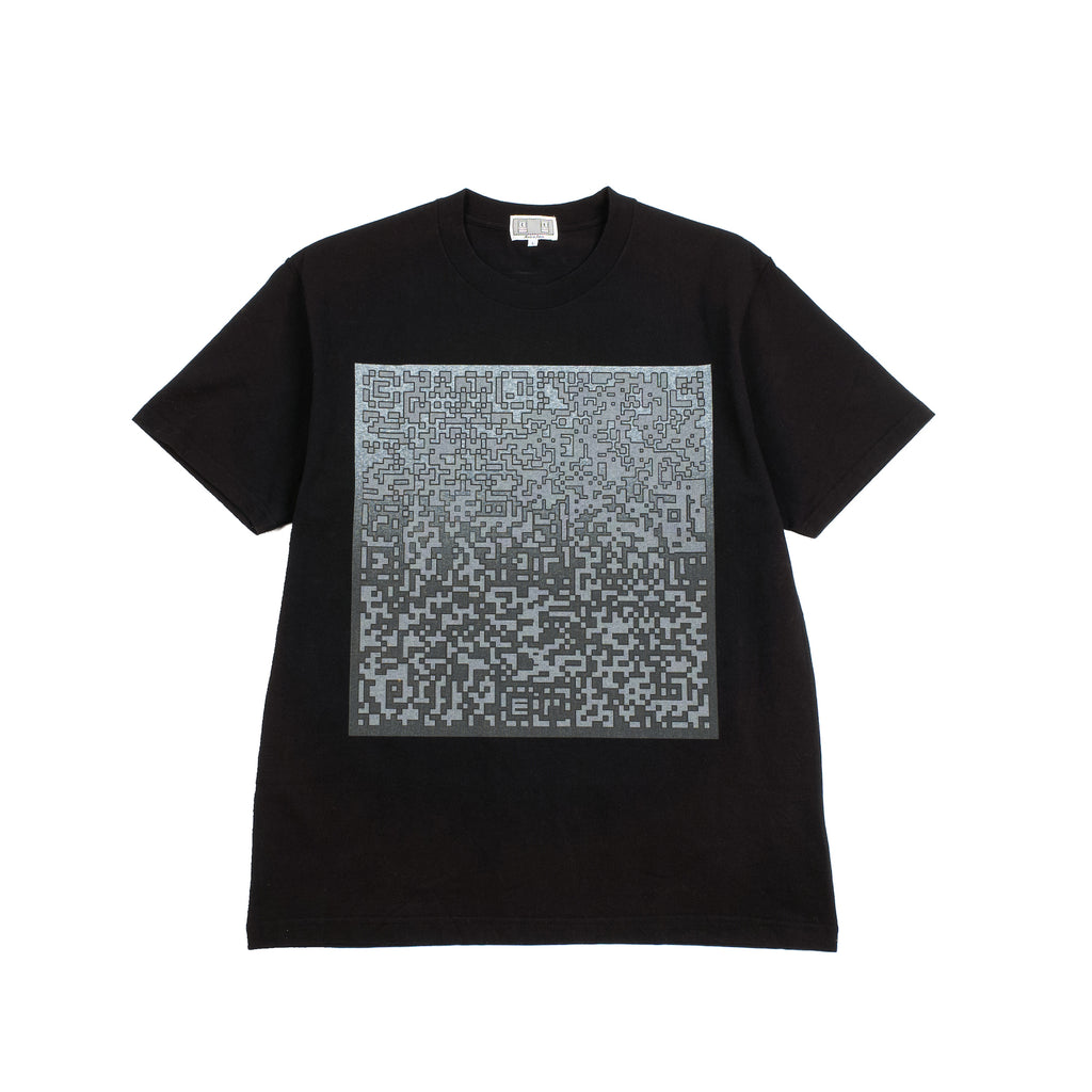 "PIXLATED NOISE TEE ""BLACK"""