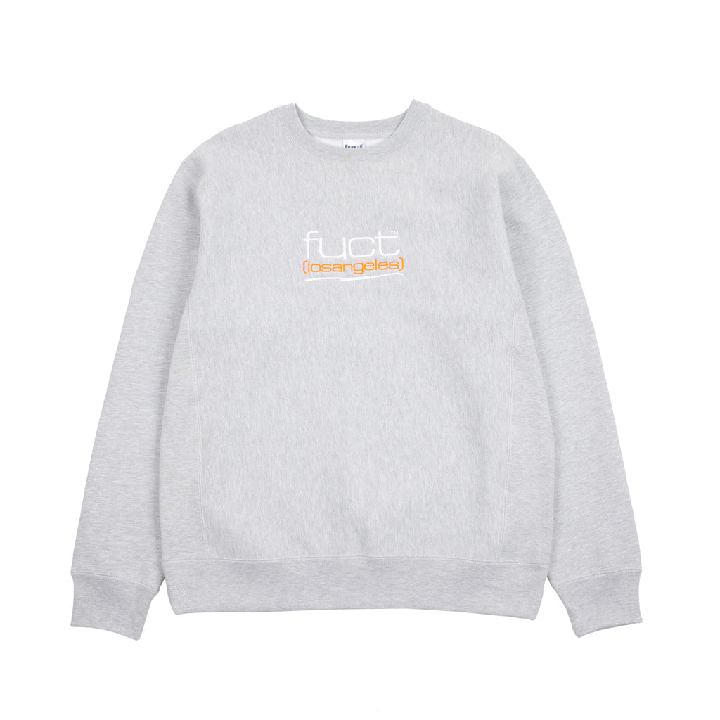 "FUCT LA CREWNECK ""HEATHER GREY"""