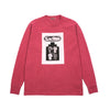 "OVERDYE UNIFORM CHOICE LONG SLEEVE TEE ""RED'"