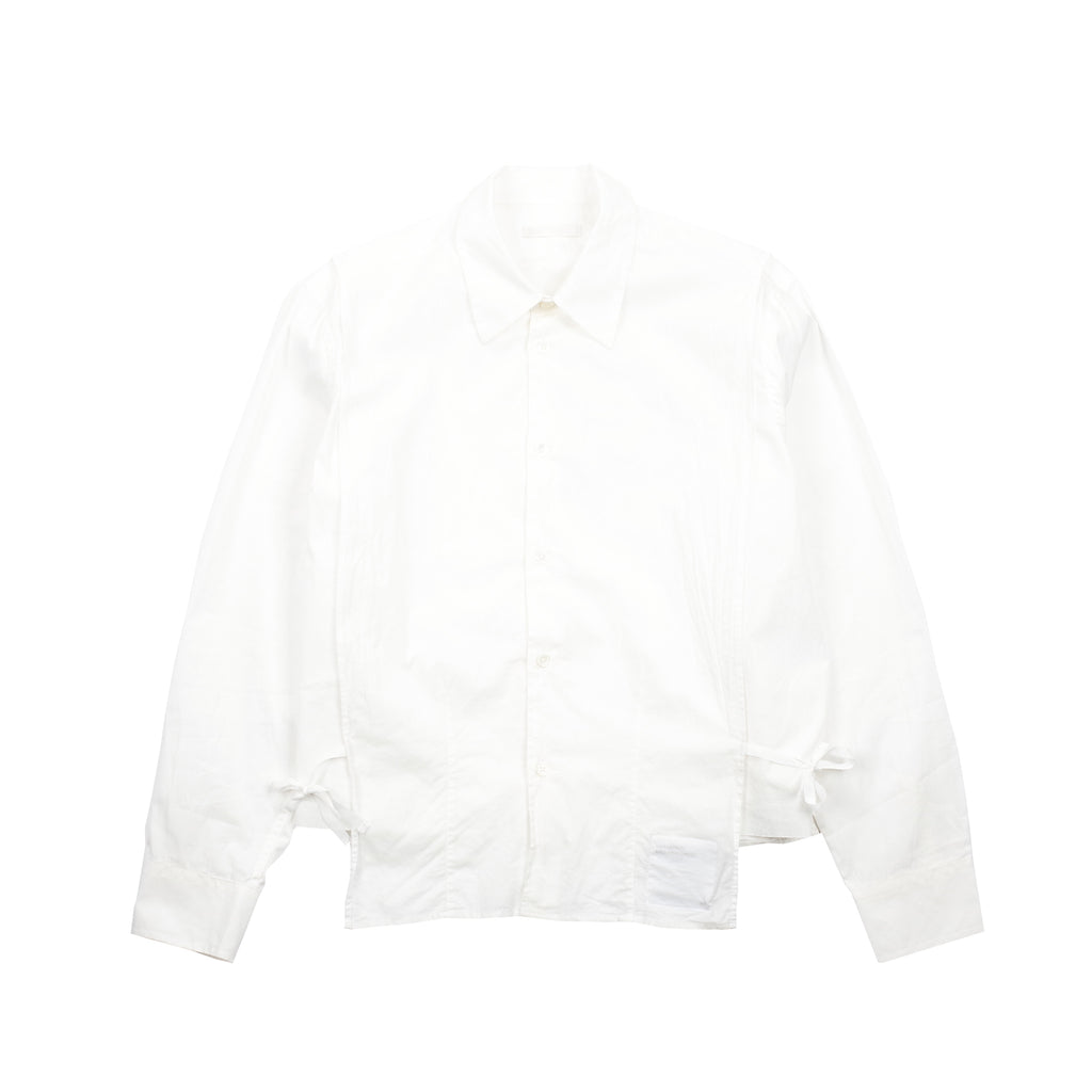 "BIB SHIRT ""WHITE POPLIN"""