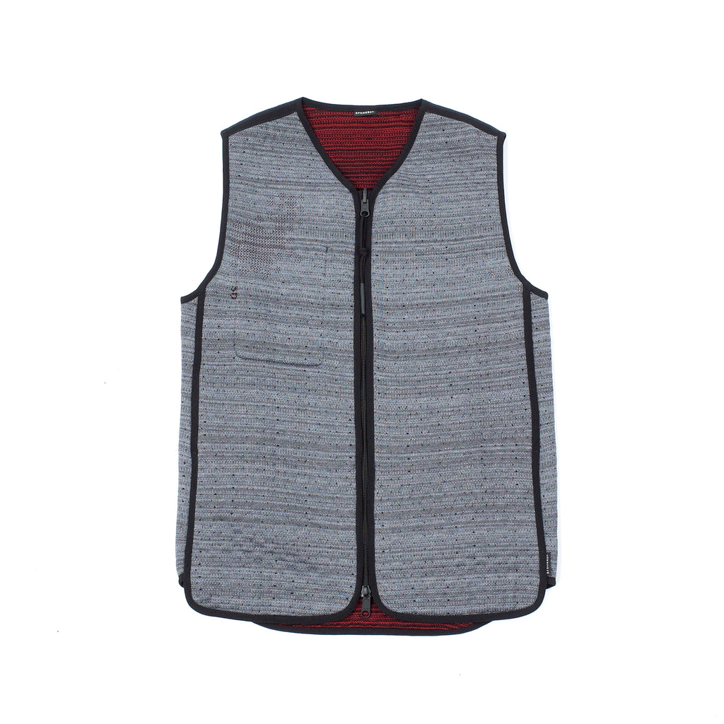 "REVERSIBLE VEST ""GRAPHITE / DEEP RED"""