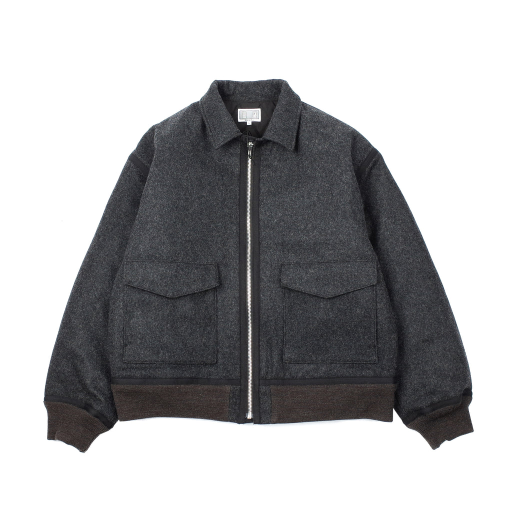 MELTON ZIP JACKET