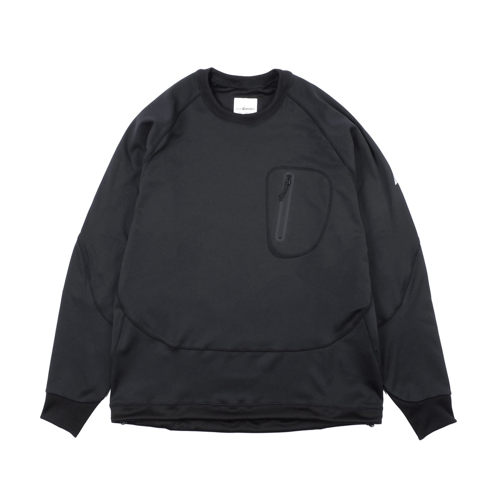 "BACK NAP RAISING PULLOVER ""BLACK"""