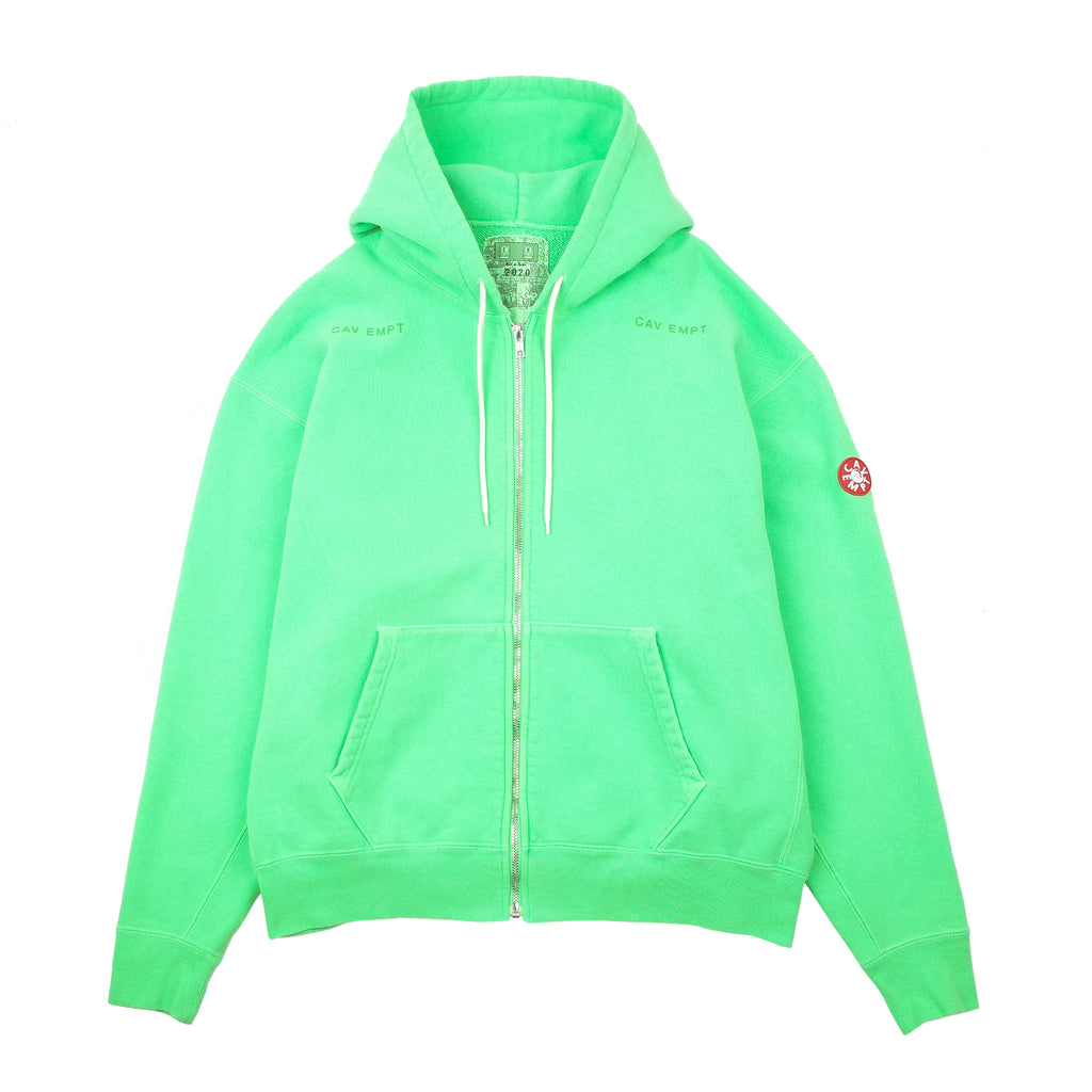 "OVERDYE ZIP HEAVY HOODY ""GREEN"""