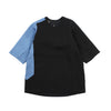 "OVERSIZED TEE SHIRT ""BLACK/STREAM"""