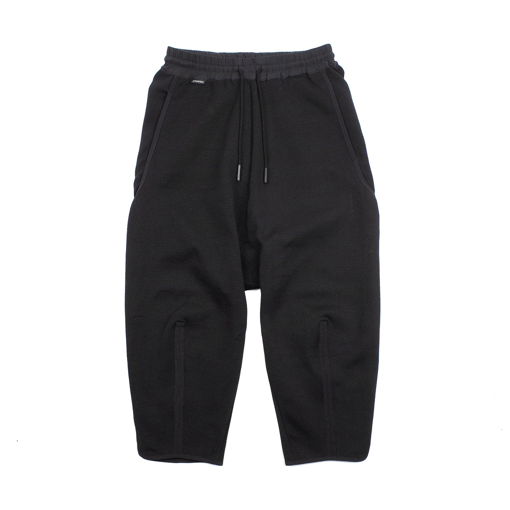 "TAPERED CROPPED PANTS ""BLACK"""
