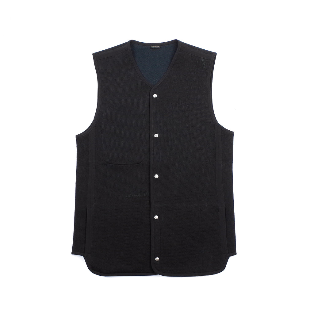 "REVERSIBLE VEST ""BLACK/OBSIDIAN"""