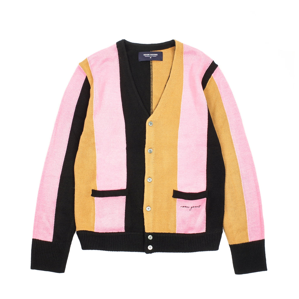 "THE DROOGS CARDIGAN ""BLACK/CARAMEL/PINK"""
