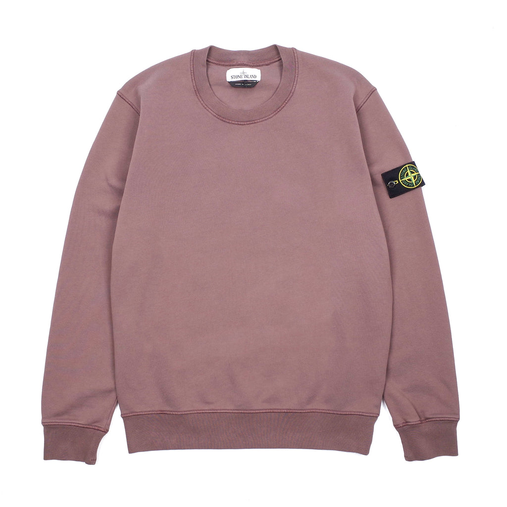 "GARMENT DYED COTTON FLEECE CREWNECK SWEATSHIRT ""MAHOGANY BROWN"""