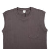 "INTERLOCK SLEEVE-LESS TEE ""BROWN"""