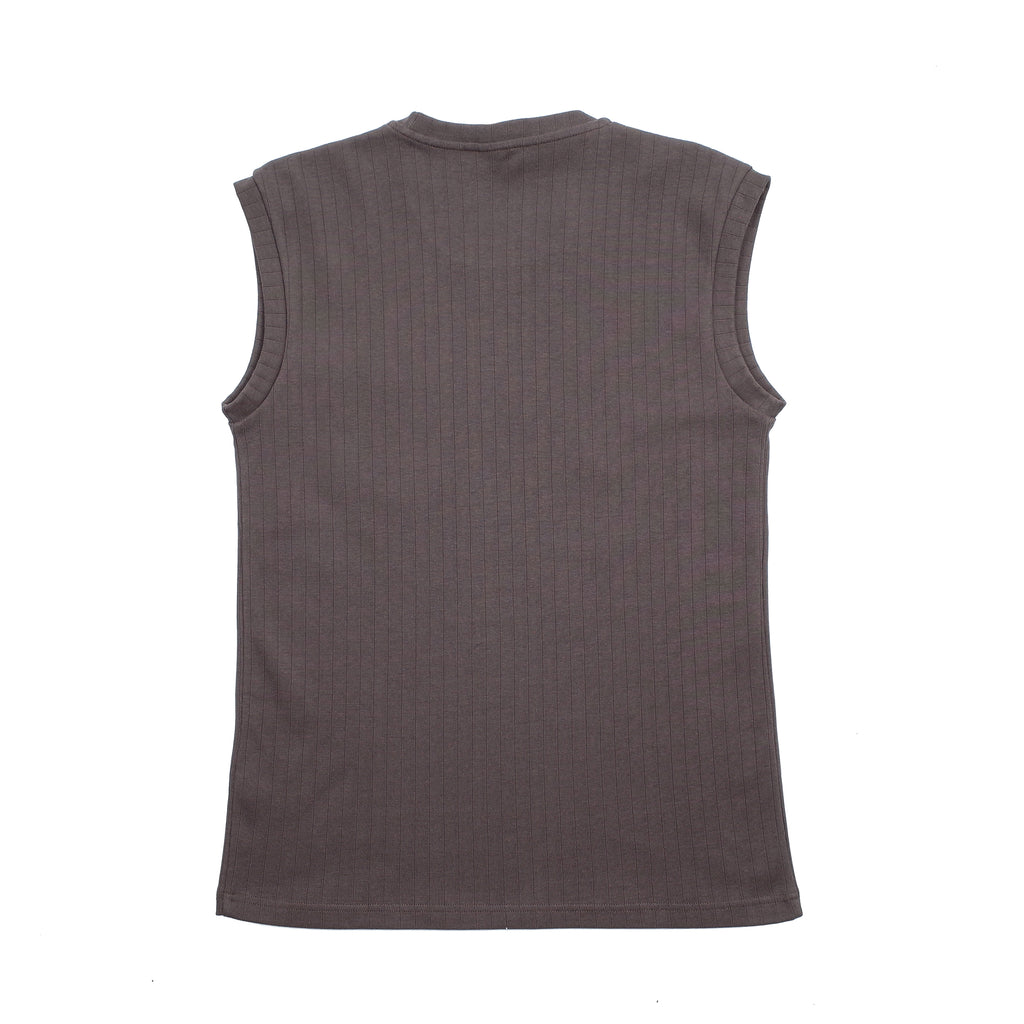 INTERLOCK SLEEVE-LESS TEE