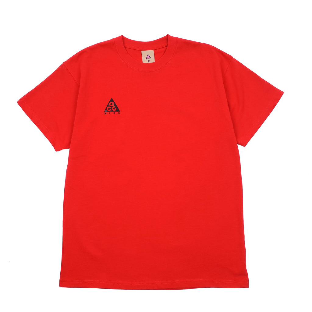 "NIKE ACG EMBROIDERED LOGO T-SHIRT ""UNIVERSITY RED/BLACK"""