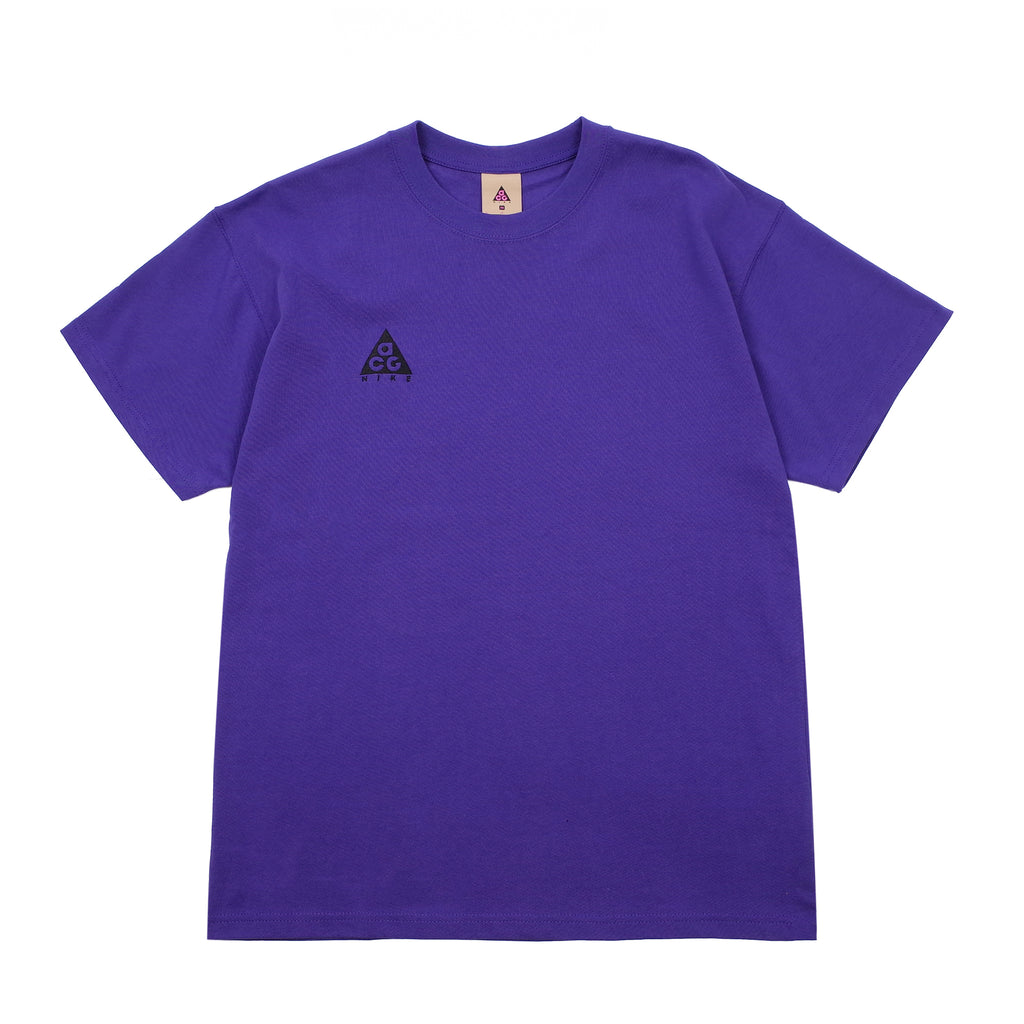 "NIKE ACG EMBROIDERED LOGO T-SHIRT ""FUSION VIOLET/BLACK"""