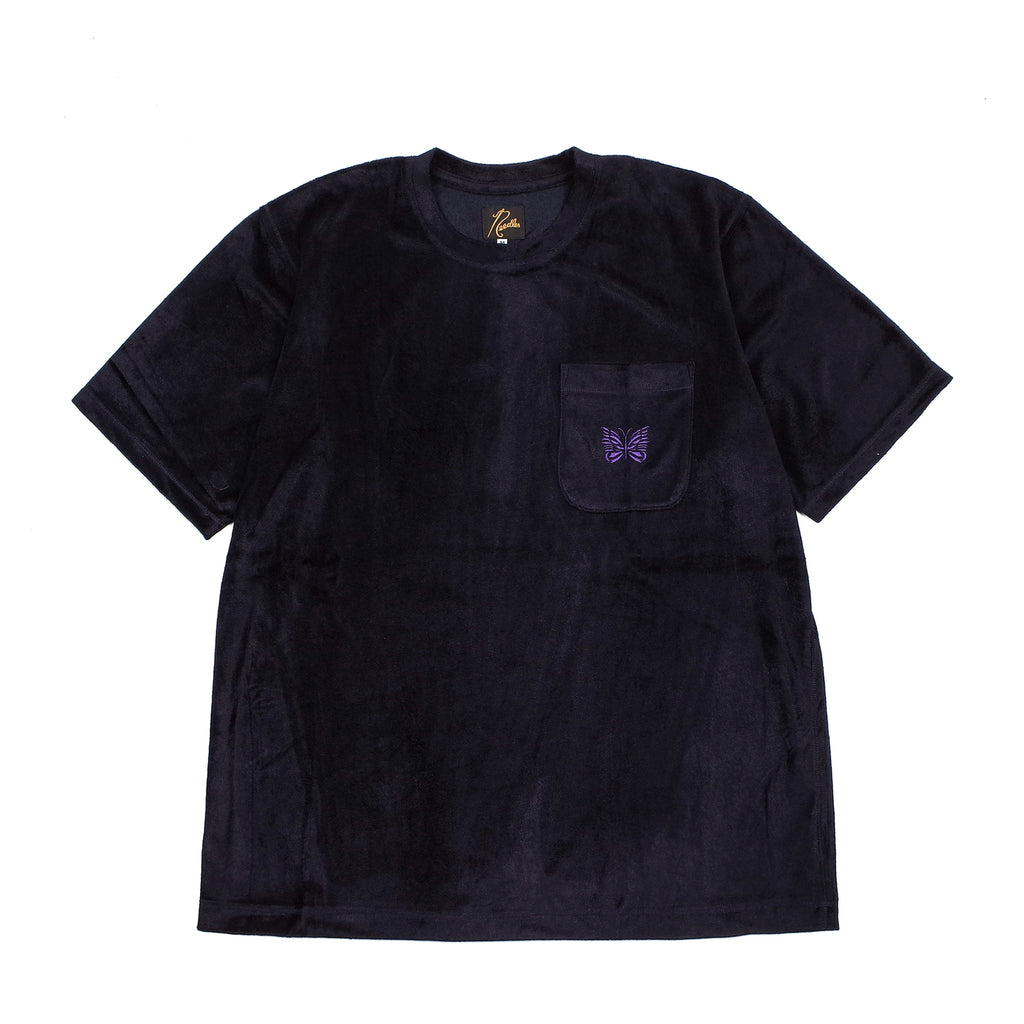 S/S PAPILLON EMBROIDERED POCKET TEE