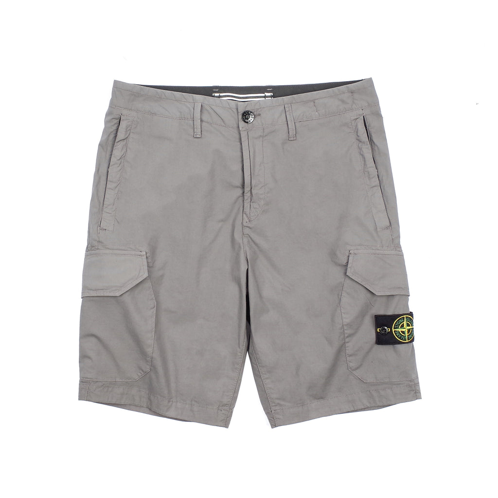 "GARMENT DYED BERMUDA CARGO SHORTS ""CHARCOAL"""