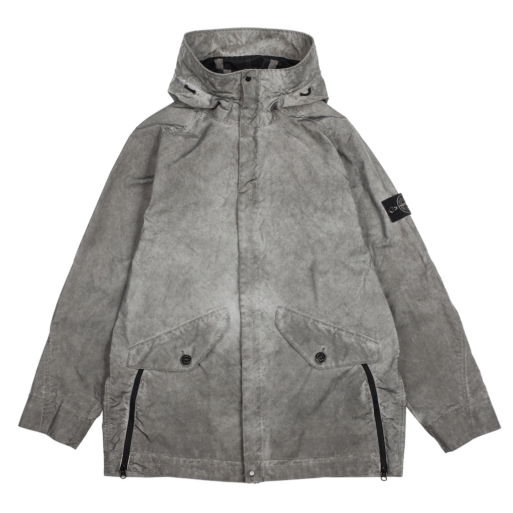 "PLATED REFLECTIVE JACKET WITH DUST COLOUR FINISH ""GREY"""