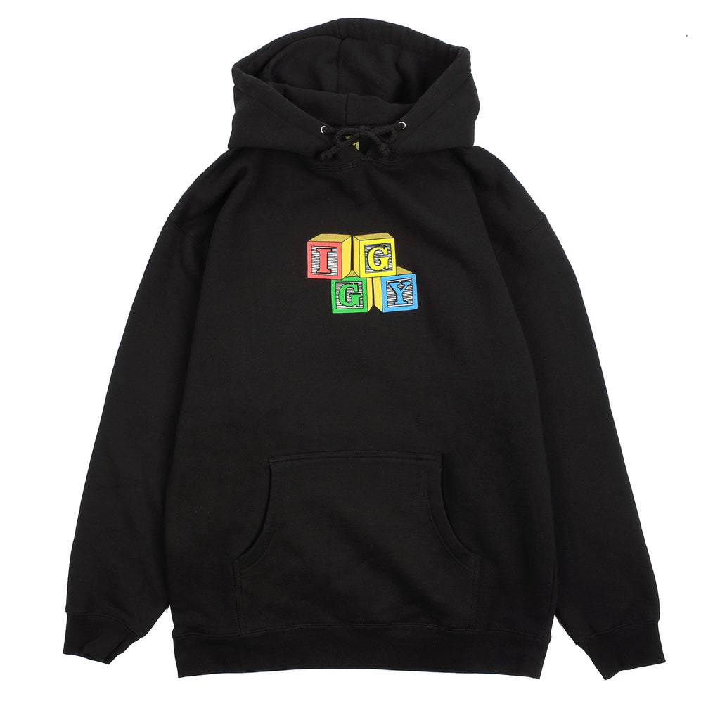 "BUILDING BLOCKS HOODED SWEATSHIRT ""BLACK"""