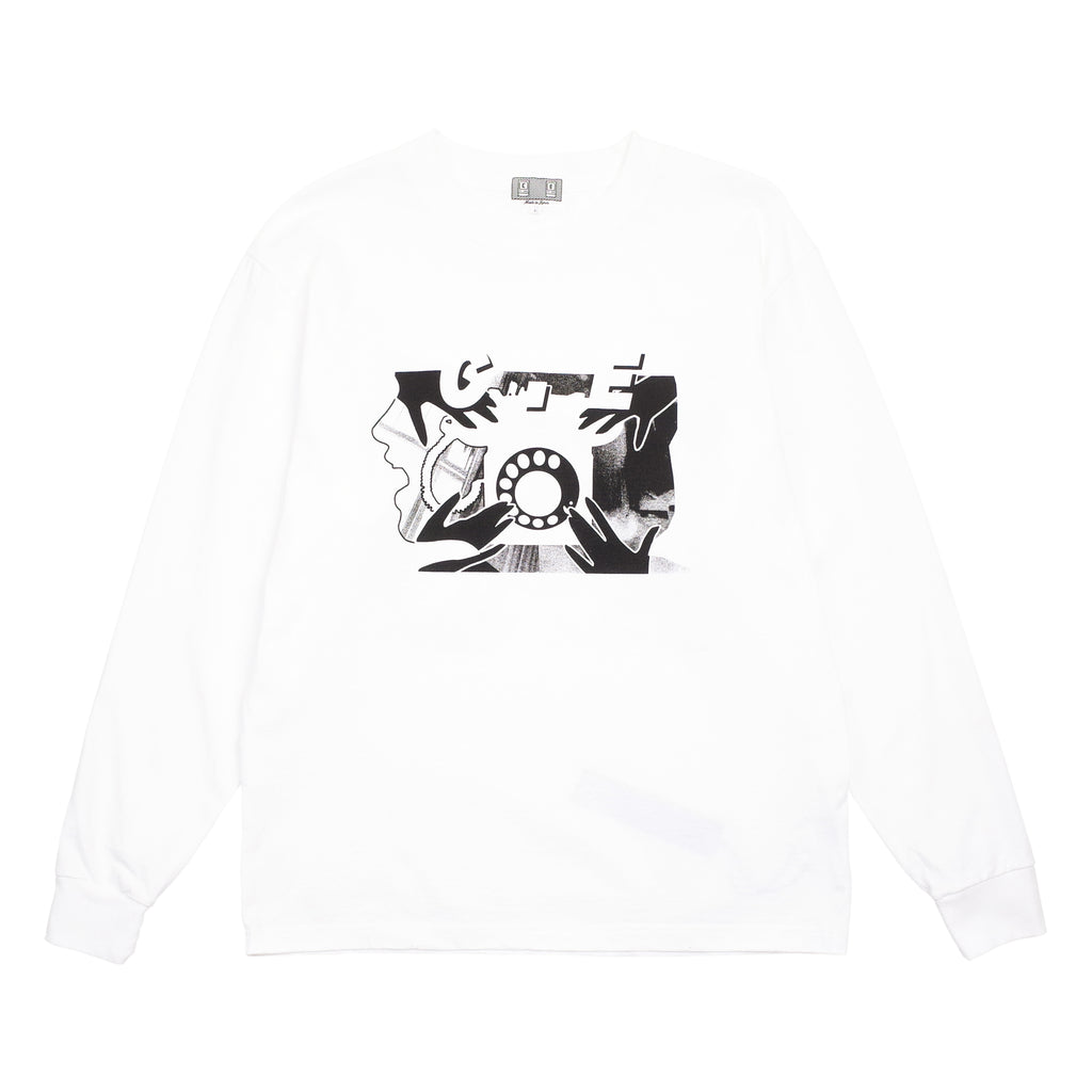 "ROTARY DIAL LONG SLEEVE T-SHIRT ""WHITE"""