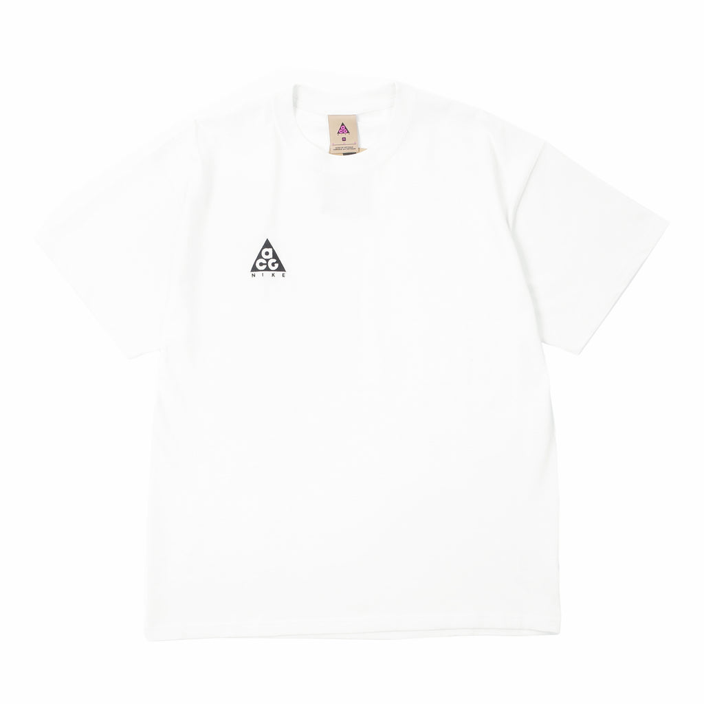 "NIKE ACG EMBROIDERED LOGO T-SHIRT ""SUMMIT WHITE/BLACK"""