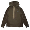 "ES-TH01 ND CONTRAST PANEL HOODIE ""OLIVE"""