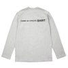 "LONG SLEEVE LOGO T-SHIRT ""GREY"""