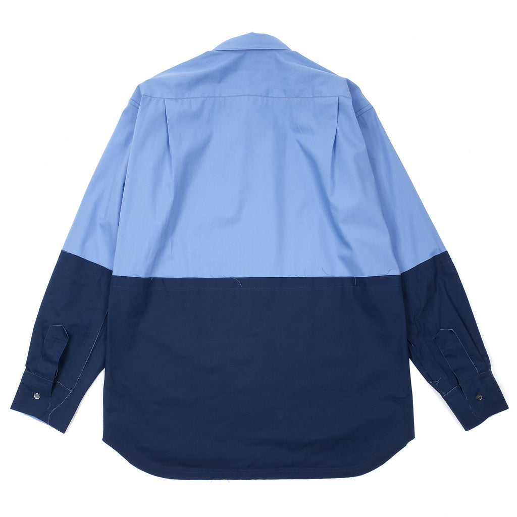 COLOUR BLOCK PANEL BUTTON UP SHIRT
