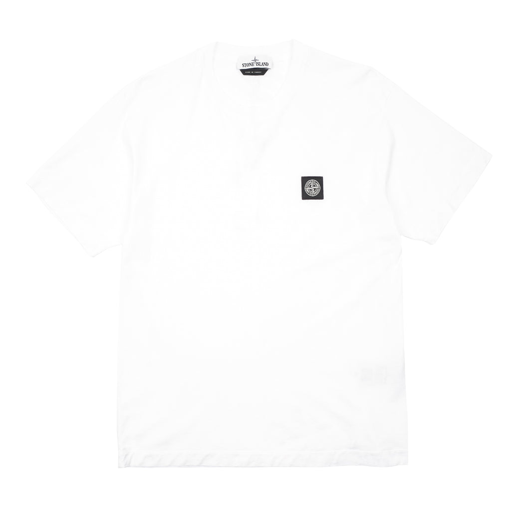 "GARMENT DYED COMPASS PATCH T-SHIRT ""WHITE"""