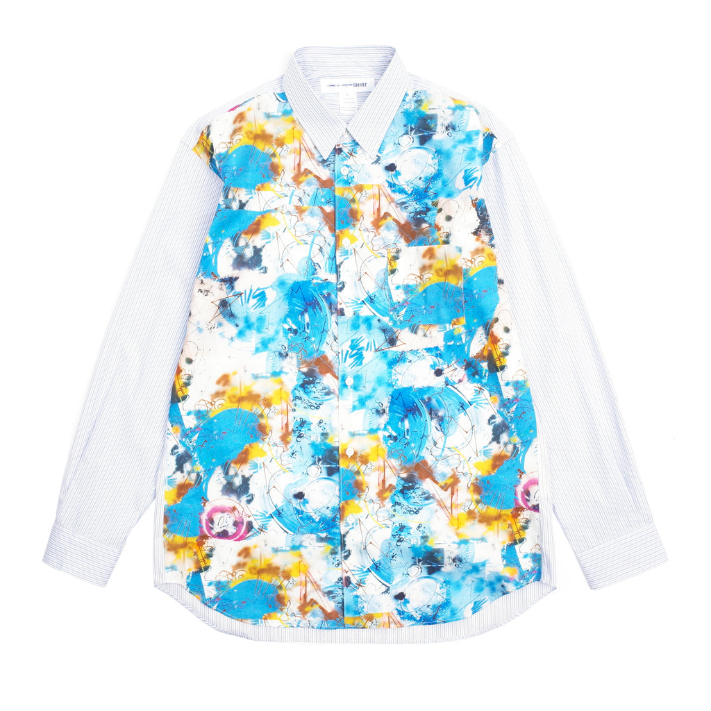 FUTURA PRINT PANELLED BUTTON UP