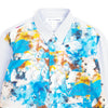 "FUTURA PRINT PANELLED BUTTON UP ""BLUE"""