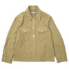 "EVENING COACH JACKET ""KHAKI GREEN BRUSHED COTTON"""