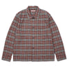 "BOX SHIRT ""ORANGE/BROWN RUSTIC PLAID"""