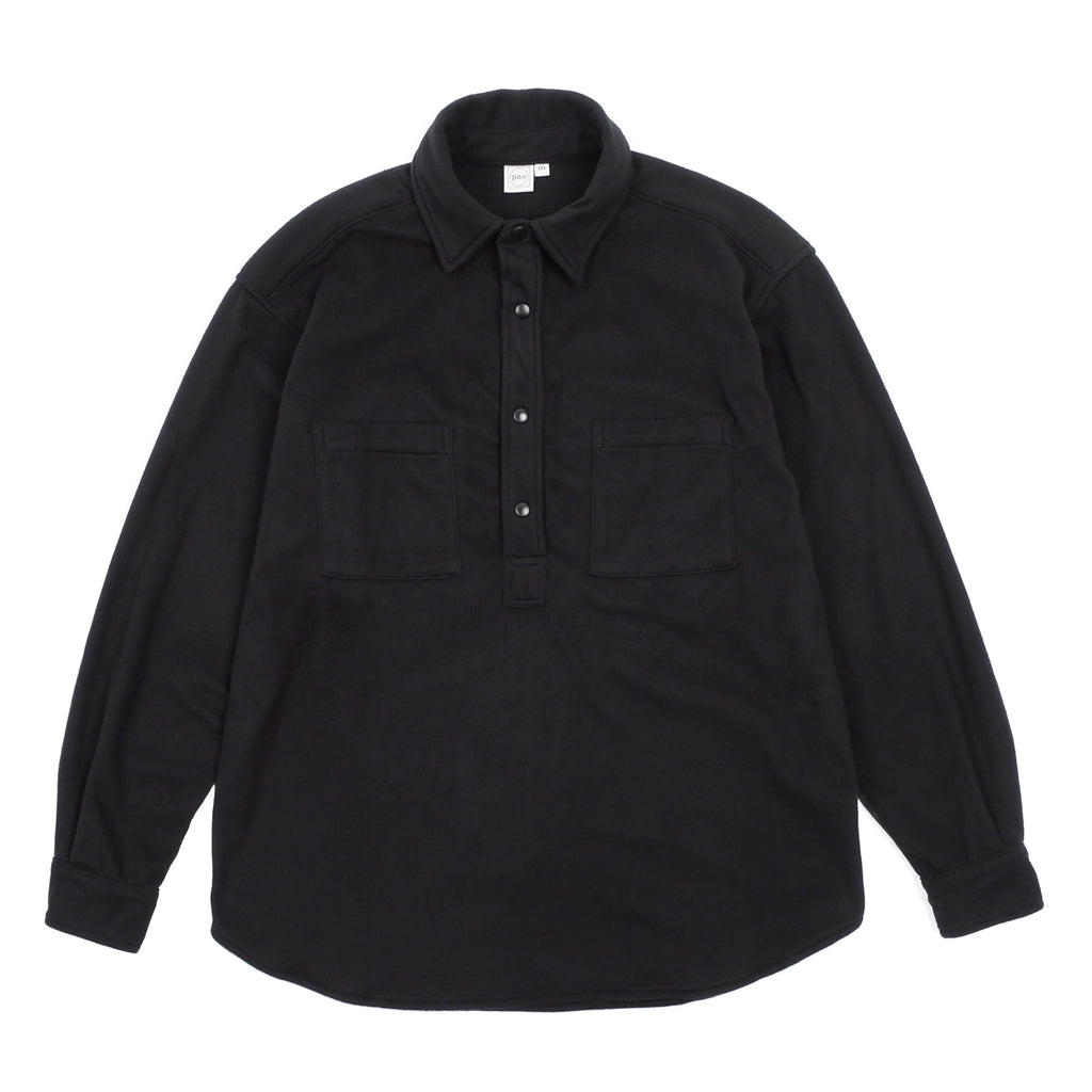 "LONG SLEEVE POPOVER SHIRT TWO ""BLACK"""