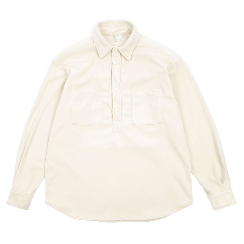 "LONG SLEEVE POPOVER SHIRT TWO ""ECRU"""