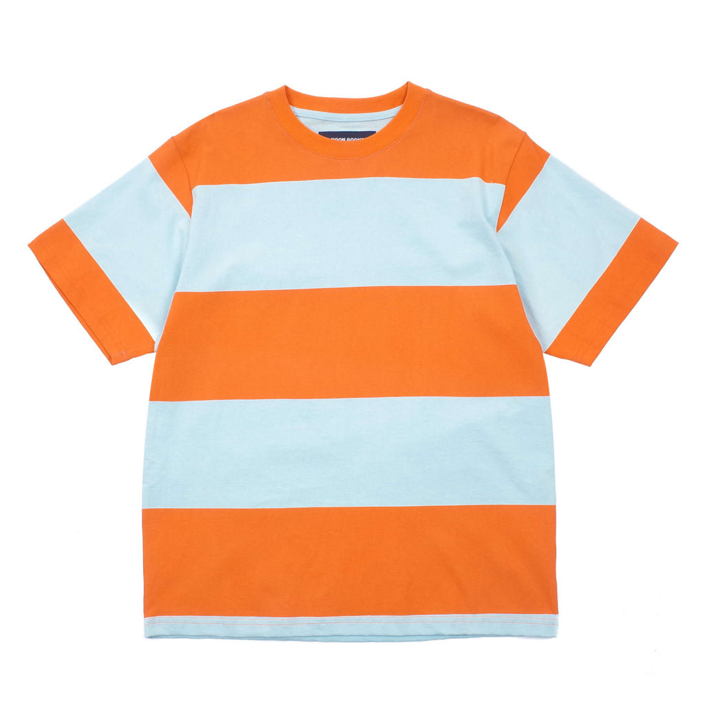 "BIG STRIPE T-SHIRT ""ORANGE/BABY BLUE"""