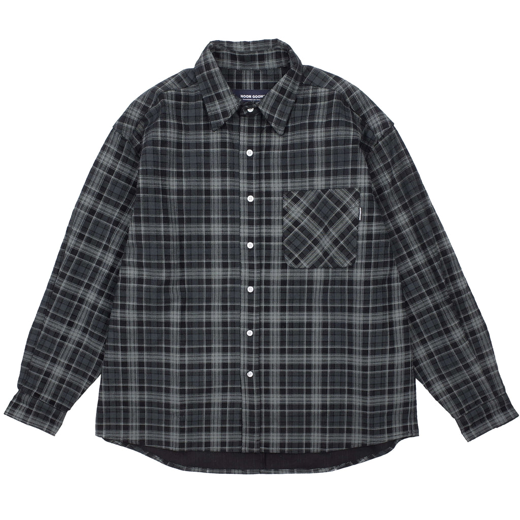 "BASELINE CORD PLAID SHIRT ""BLACK PLAID"""