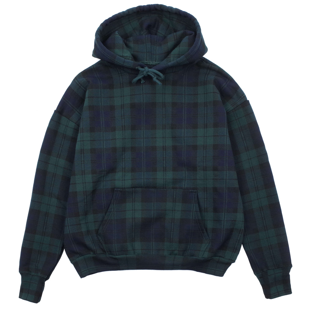 "TARTAN PLAID ICON HOODIE ""FOREST/NAVY"""