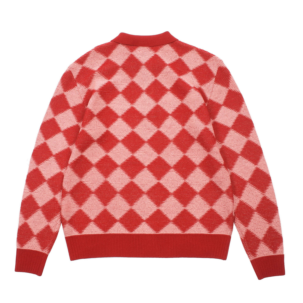 CHECKERED POLO SWEATER