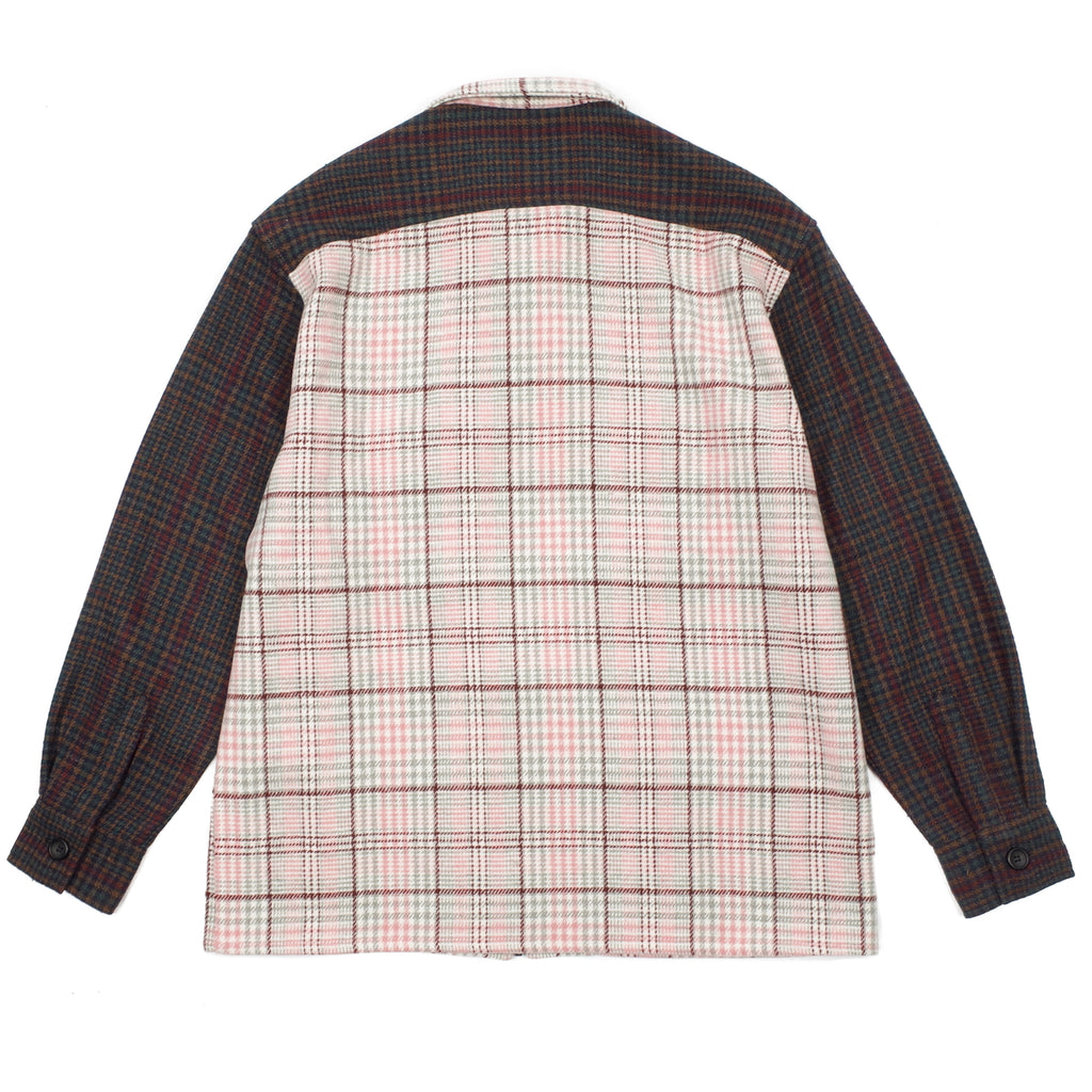 MULTI PLAID ZIP SHIRT