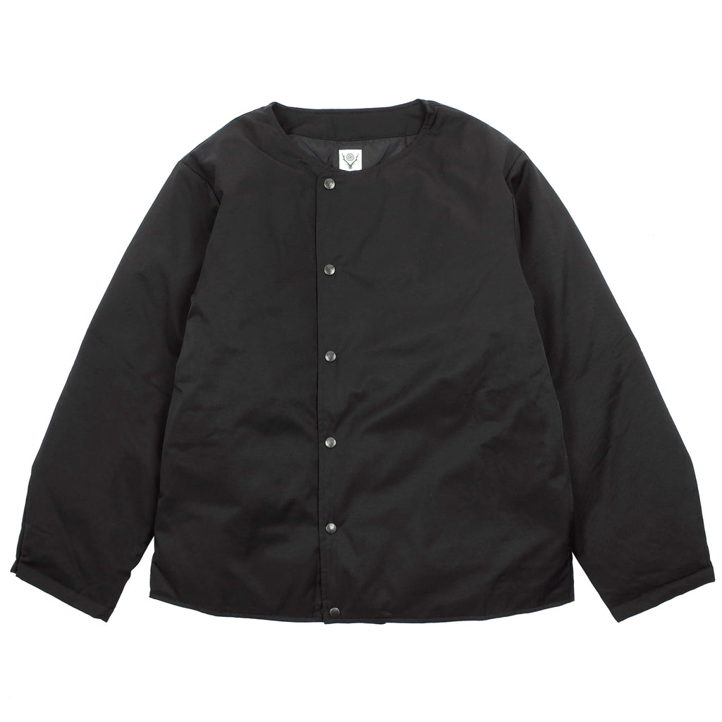 CREW NECK DOWN TWILL JACKET