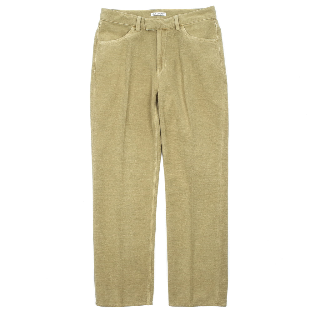 "FORMAL CUT ""KHAKI GREEN BRUSHED COTTON"""