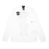 "20310 PRINTED LS CATCH POCKET T-SHIRT ""WHITE"""