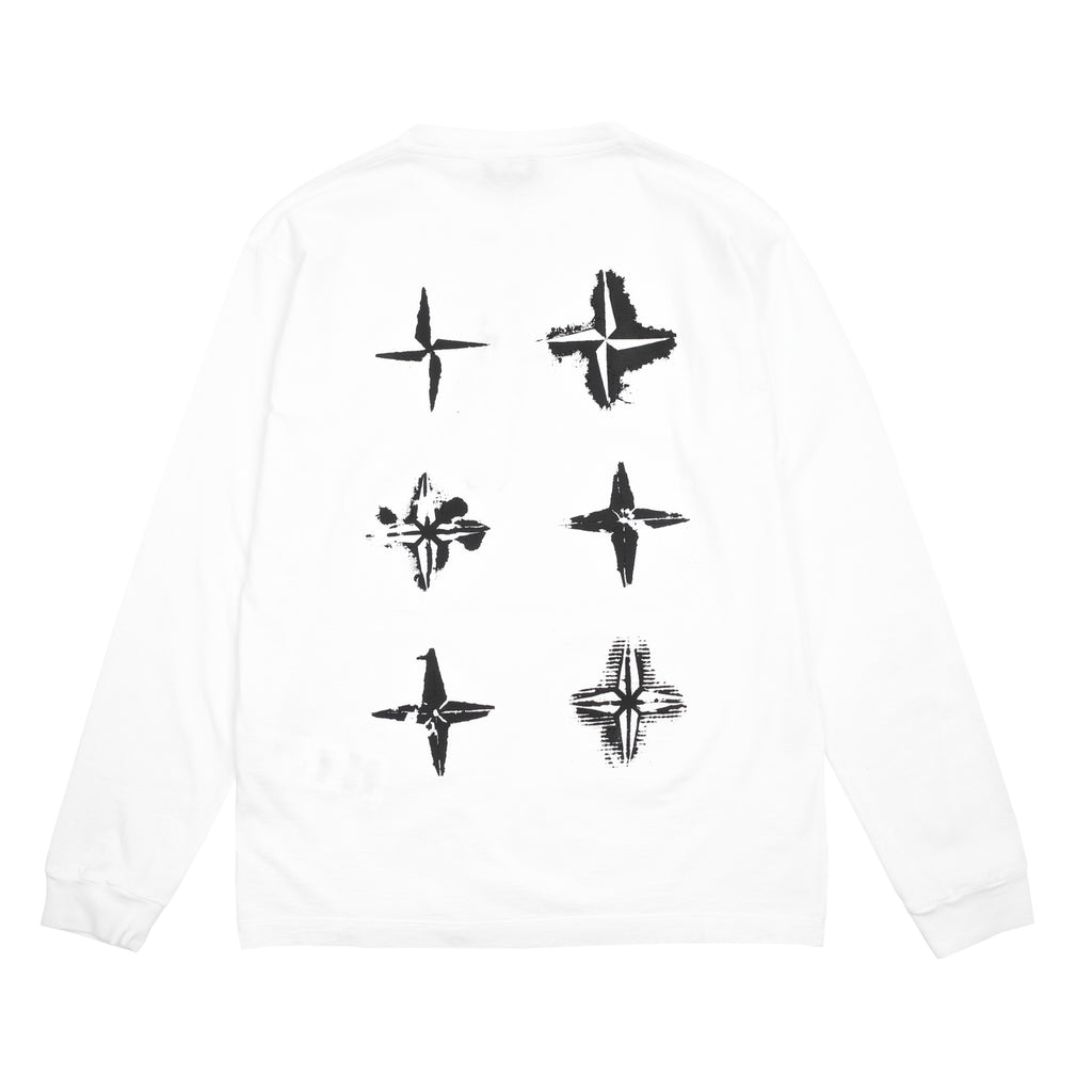 'STENCIL THREE' LONG SLEEVE T-SHIRT