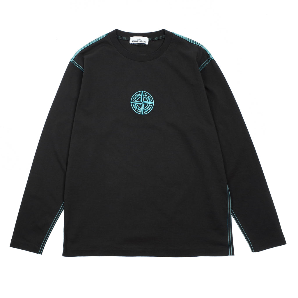 "EMBROIDERED LONG SLEEVE T-SHIRT ""BLACK"""