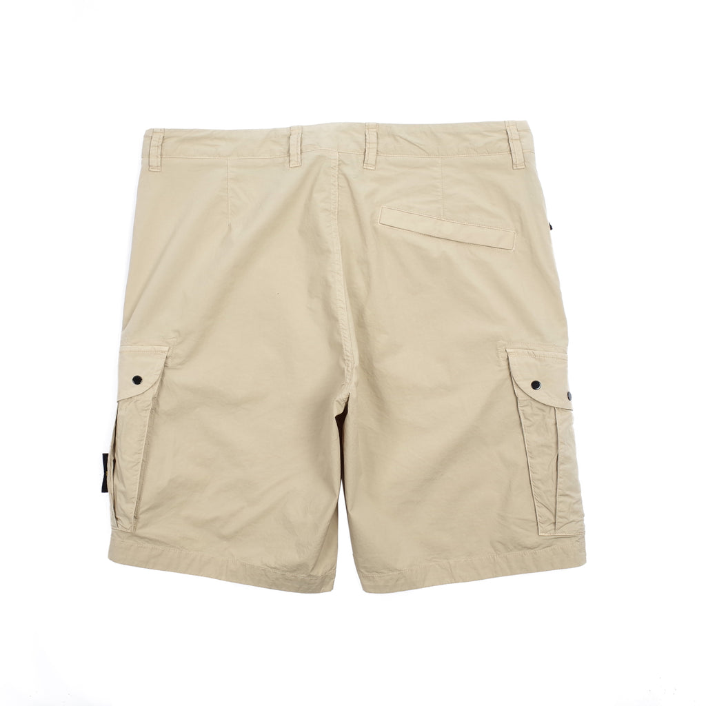 STRETCH COTTON TELA BERMUDA CARGO SHORTS